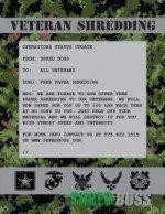 free paper shredding for veterans